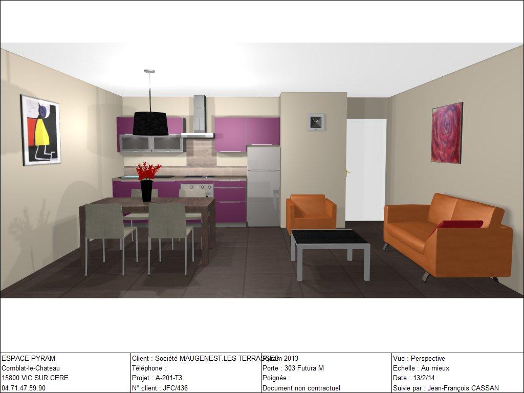 Chalet a appartement n 01 t3 lot a 201 niveau for Garage ad aurillac