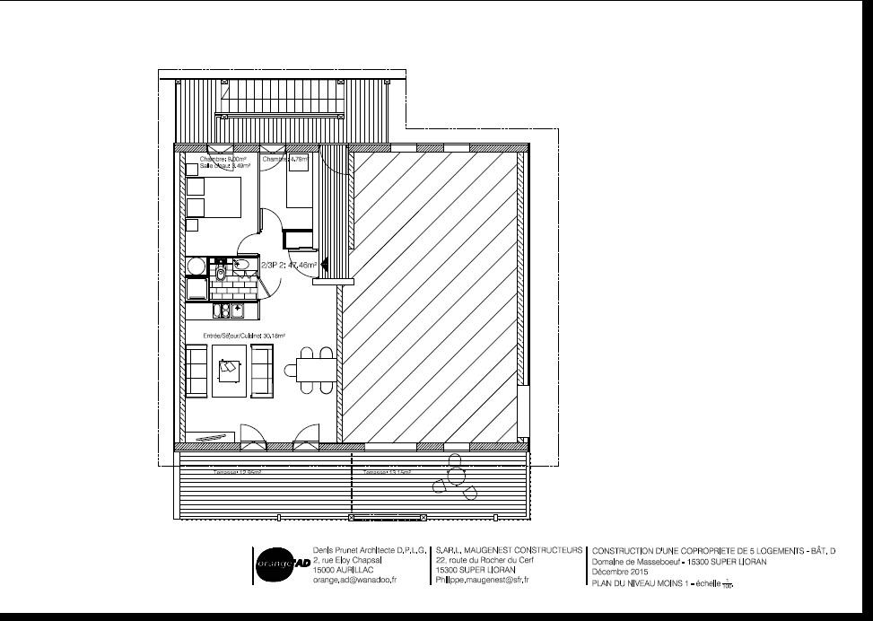 Chalet d appartement n 04 n 1 t2 3 lot d 04 les for Garage ad aurillac